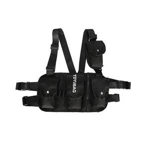 Alyx Black Chest Rig Bag Men Waist Pack Hip Hop Streetwear Shoulder Crossbody Hip bag Woman Tactical Kanye West Vest Chest Bags