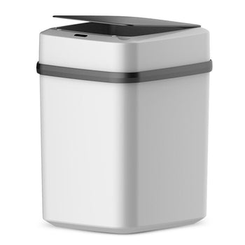 Automatic Trash Can Dustbin Lid Motion Detector Kitchen Bedroom No Noise 10L Battery (Silver)