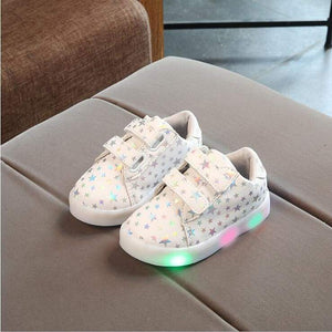 Autumn Children Shoes With Light Led Kids Luminous Glowing Sneakers Baby Toddler Boys Girls 21-30