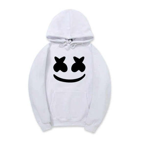 Autumn Winter Marshmello Face Hoodies Men's Casual Sweatshirt Sportswear Fleece Cotton Hooded Jacket Green Red White Yellow Black Pink Blue Khaki Gray