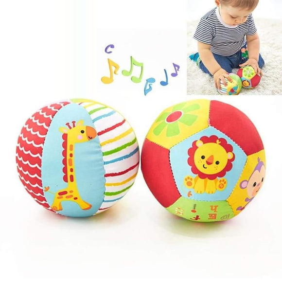 Baby Toys For Children Animal Ball Soft Plush Mobile With Sound Rattle Infant Body Building 0-12 Months