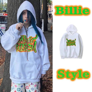Billie Eilish Printed Cotton Streetwear Hoodies