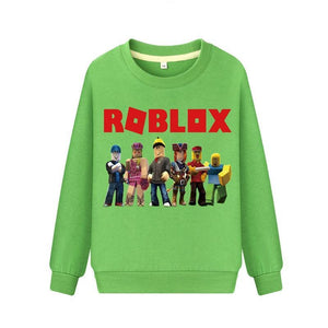 Boys Girls Long Sleeve Sweatshirts Children Spring Cotton Thin Hoodies For Kids Clothing Pullover Roblox Hoodie Costume Dz073