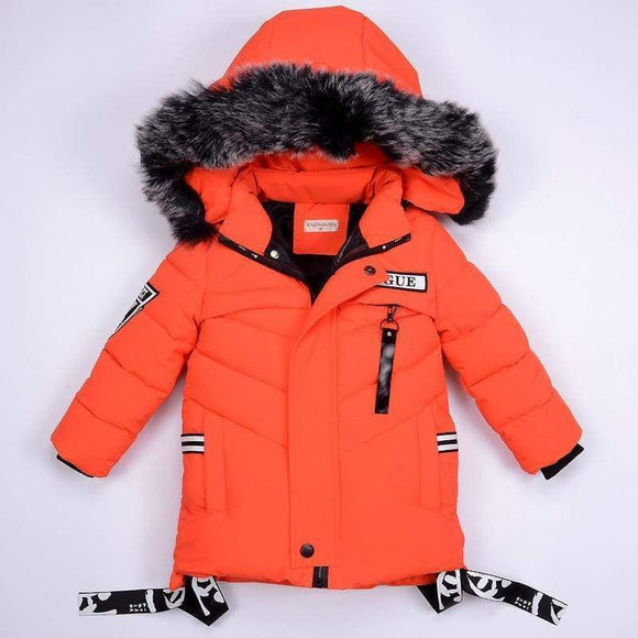Boys Jackets Winter Jacket For Children's Down Hooded Coats & Parkas Thick Children Overcoat Boy Clothes 2-6T Cotton Polyester