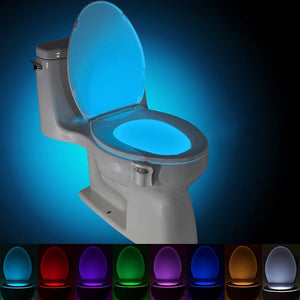 BRELONG WG16 Smart PIR Toilet Night Light Changeable 8 Colors LED Lamp (WHITE)