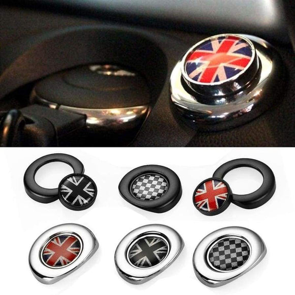 Car Styling Interior Ignition Start Button Sticker For Mini Cooper Countryman Clubman R55 R56 R57 R58 R59 R60 R61 Accessories