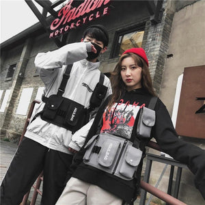 Chest Rig Hip Hop Streetwear Functional Tactical Bag For Men Women Oxford Waist Pack Punk Style Kanye West