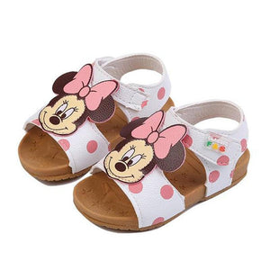 Children Pu Leather Baby Girls Sandals Summer 1-2-3 Years Old Soft Sole Kids Toddlers Cute Cartoon Shoes