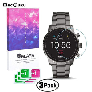 Clear Tempered Glass Screen Protector For Fossil Q Explorist Hr Gen 4 Watch Explosion-Proof Anti Scratch Protective Film