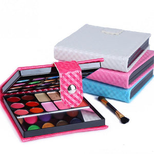 Cosmetics Shimmer Pearl Eyeshadow Palette Natural 32 Colors Makeup Up Modification Lip Gloss Blush Set Brush Button Bag