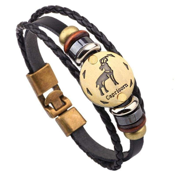 Customize Your Bracelet Size Here 21cm - 25cm Leather Aquarius 21 cm