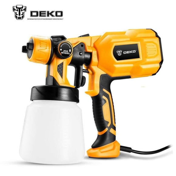 Deko Dkcx01 Spray Gun 550W 220V High Power Home Electric Paint Sprayer 3 Nozzle Easy Spraying And Clean Perfect For Beginner