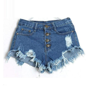 Denim Shorts Women Ladies Tassel Hole High Waist Summer Short Jeans Sexy Mini Booty For Woman White Black