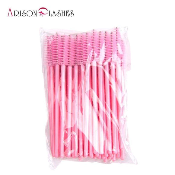 Disposable Silicone Gel Eyelash Brush Comb Mascara Wands Eye Lashes Extension Tool Professional Beauty Makeup For Women