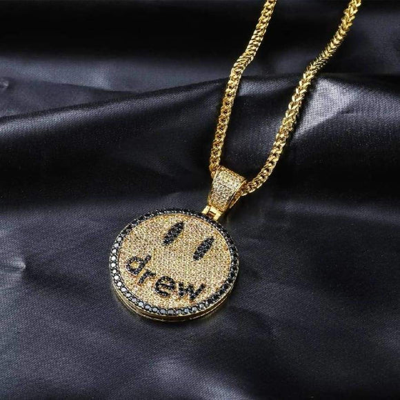 Drew Smiling Face Pendant Necklace