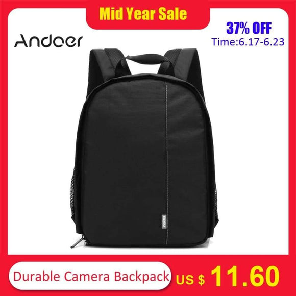Durable Camera Backpack Dslr Bag Water-Resistant Multi-Functional Breathable For Nikon Canon Sony