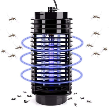 Electric Mosquito Insect Killer Lamp Led Photocatalyst Fly Trap Bug Anti Repellent Eu Us Plug