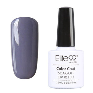 Elite99 10ml 12 Color Nail Polish UV Lamp Necessary Gelpolish