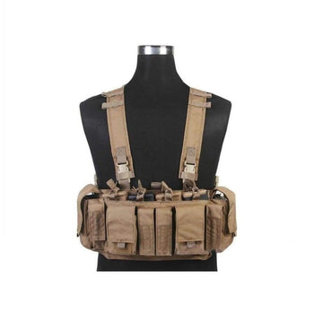 Emersongear Mf Style Uw Iv Chest Rig 500D Molle Tactical Vest With Multi-Pockets For Edc Tools Em7329