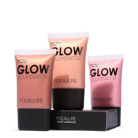 Face Gold Highlighter Makeup Liquid Glow Illuminator Face Contour Brightener Glow Shimmer Liquid Highlighter Make up
