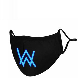 Faded Band Cosplay Alan Walker Related Gauze Mask Blue & Light Cotton For Winter
