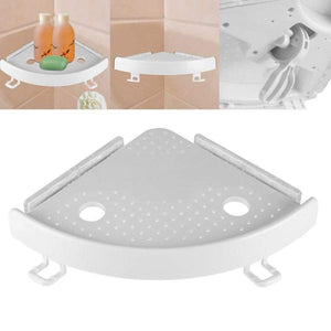 Faroot Bathroom Plastic Shelf Organizer Corner Snap Up Storage Holder Shelves Shower Wall Shampoo Soap