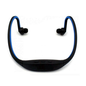 Fashionable Quality Bluetooth Headphone Headset with Mic / Music Playing / FM / TF Slot (BLUE)