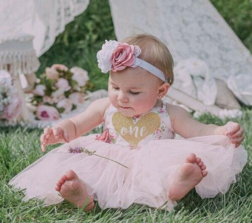 First Birthday Floral Newborn Baby Girls Dress Princess Pageant Tutu Dresses Usa