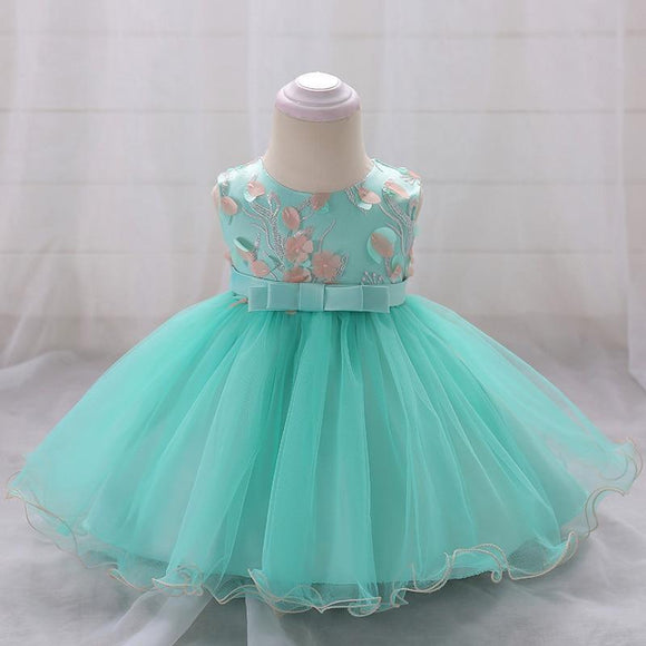 Flower Girls Dresses Princess Wedding Gown Dress Baby Girl Birthday Baptism For 6-24 Month L1848Xz