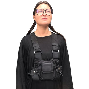 Functional Tactical Chest Bag For Men Fashion Bullet Hip Hop Vest Streetwear Bag Waist Pack Women Black Chest Rig Bag 233