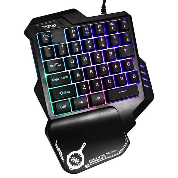 G30 Professional Usb Led Backlit Mechanical Feeling Keyboard 35 Keys One Handed Gaming Teclado Mecanico Gamer Keypad