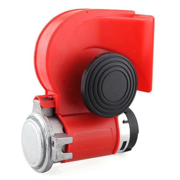 H314 12V Copper Dual Tone Loud Car Motorcycle Air Horn Siren (RED)
