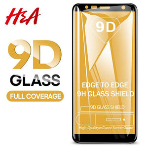 H&A 9D Tempered Glass For Samsung Galaxy J4 Plus J6 J8 A6 A8 A7 Screen Protector A5 A3 Protective Film