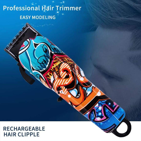 Hair Clipper Professional Interchangeable Cutter Machine Colorful Removal Electric Usb Man Styling Tools