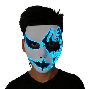 Halloween Panic Mask Night Atmosphere Decorative Led Light Emitting Mask Party Costume