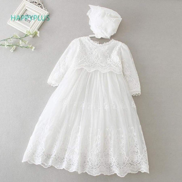 Happyplus Baby Dress Long Sleeve/Sleeveless Kids Second First Birthday Girl Party Gown For Bridesmaid Infant Baptism Dresses