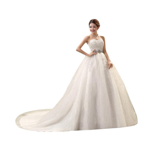 High Waist Maternity Wedding Dress For Pregnant Women Long Trailing Nuptial Korean Style Brides Dresses 10