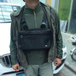 Hip Hop Chest Bag For Men Rig Streetwear Functional Package Tactical Nylon Fanny Pack Shoulder Waist