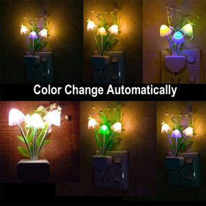 Home Decoration Us Plug Baby Kids Night Lamp Romantic Colorful Sensor Led Mushroom Light Decor Best C30424
