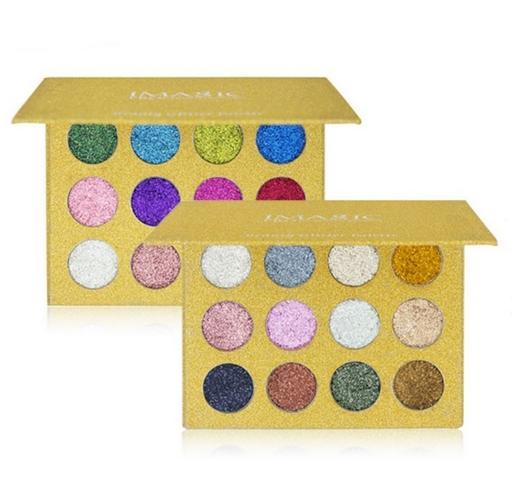 Imagic 12 Color Professional Glitter Eyeshadow Palettes Pigment Diamond Rainbow Cosmetics Makeup For Women 25621 1