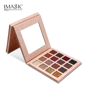 Imagic 16 Colors Sunset Glitter Eyeshadow Palette Natural Easy To Wear Shimmer Waterproof Matte Eye Shadow Makeup