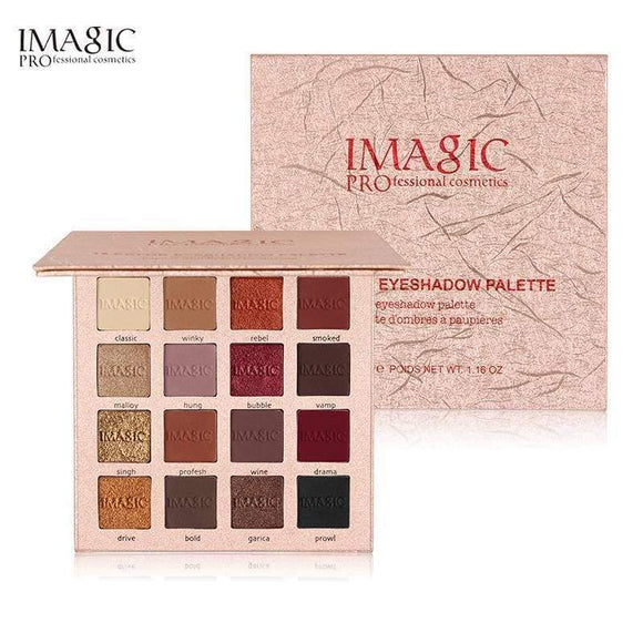 Imagic Shimmer Eyeshadow 16 Colors Palette Matte Glitter Makeup Set Beauty