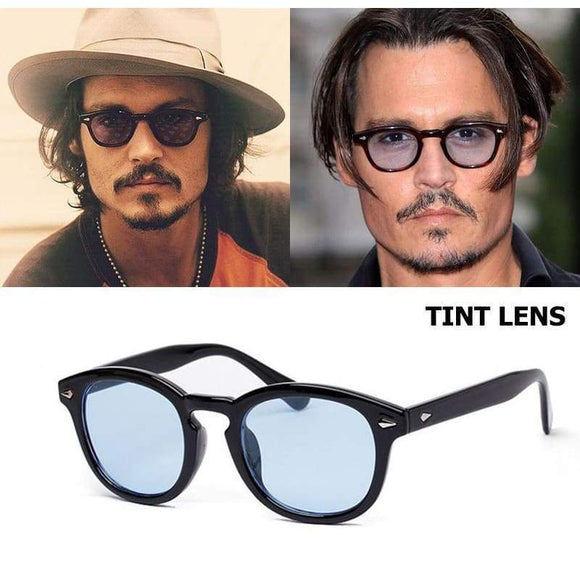Jackjad Johnny Depp Lemtosh Style Round Sunglasses Tint Ocean Lens Design Party Show Sun Glasses Brown Yellow Gray Blue