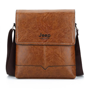 Jeep Buluo Leather Men's Messenger Bags Casual Shoulder Easy To Carry Daily Belongs Ksl 573