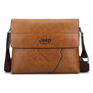 Jeep Suppai Pu Leather Men Messenger Bags Solid Shoulder Crossbody Handbags Casual Briefcase