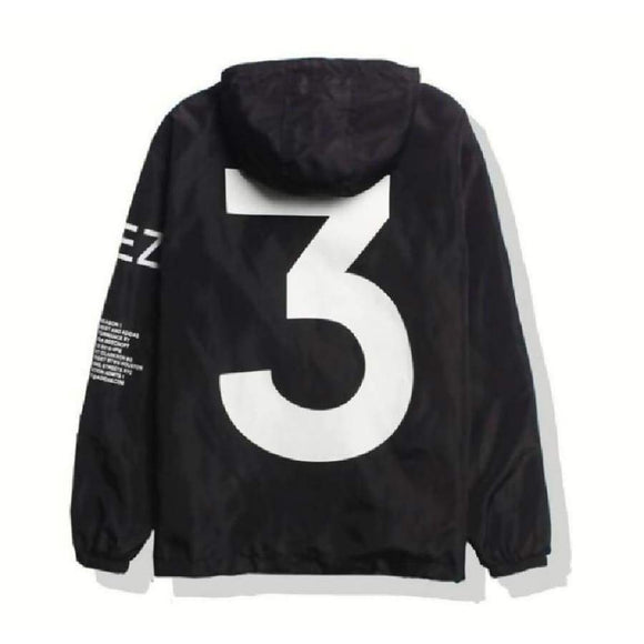 Kanye West Y3 Season 3 Windbreaker Men Women Hip Hop Jacket Outwear