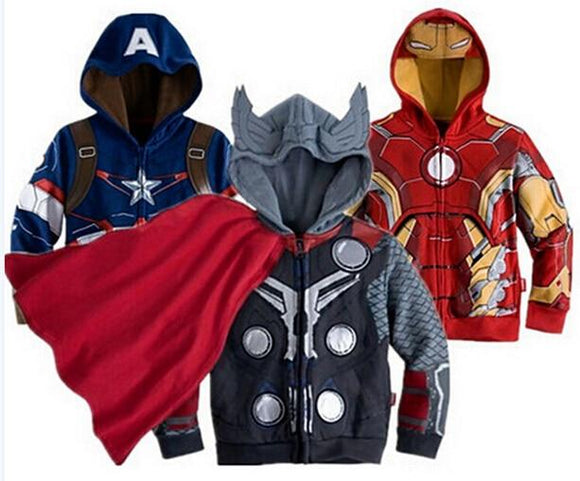 Kids cartoon Clothes baby outerwear for Spring Autumn Children's Coat boys hoodies jackets