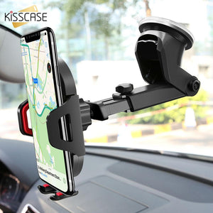 KISSCASE Car Phone Holder Windshield Mount Holder For iPhone XR X 7 Holder Car Air Vent Mobile Phone Car Holder Stand For Phone