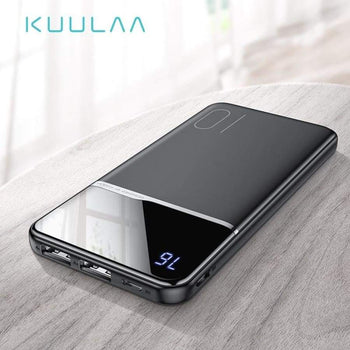 Kuulaa Power Bank 10000Mah Portable Charging Powerbank 10000Mah Usb Power Bank External Battery Charger For Xiaomi Mi 9 8 Iphone