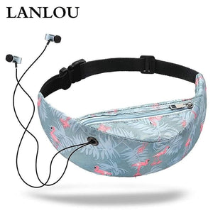 Lanalou Waterproof Women Waist Bag Girls Travelling Fanny Pack Mobile Phone For Designer Belt Bags